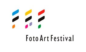 "Logo of FotoArtFestival, depicting stylized letters ""FAF"""